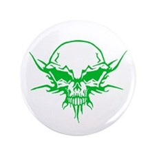 "Skull Tattoo 3 3.5"" Button"