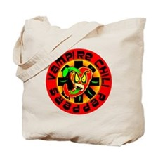 Vampire Chili Peppers Red Tote Bag