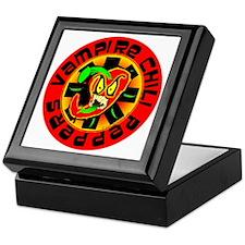 Vampire Chili Peppers Red Keepsake Box