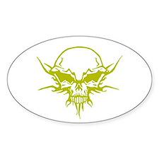 Skull Tattoo 4 Oval Decal