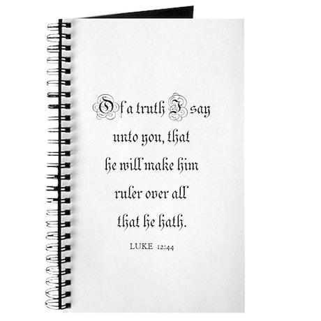 LUKE 12:44 Journal