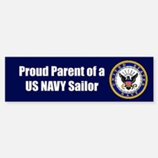 Navy Sailor Parent Bumper Car Car Sticker