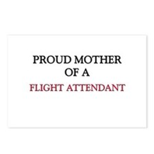 Proud Mother Of A FLIGHT ATTENDANT Postcards (Pack