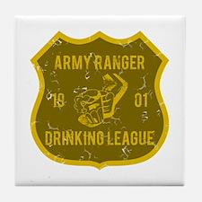 Army Ranger Drinking League Tile Coaster