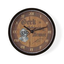 Geek Armor Wall Clock