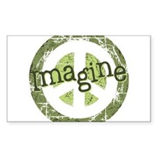 Imagine Peace Rectangle Sticker 10 pk)