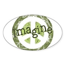 Imagine Peace Oval Bumper Stickers