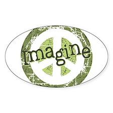 Imagine Peace Oval Stickers