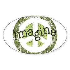 Imagine Peace Oval Sticker (10 pk)