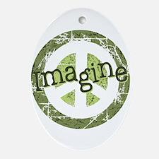 Imagine Peace Oval Ornament