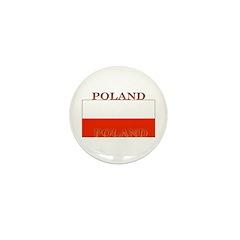 Poland Polish Flag Mini Button (100 pack)