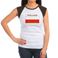 Poland Polish Flag Women's Cap Sleeve T-Shirt