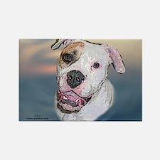 Rosie, Am. Bulldog Rectangle Magnet