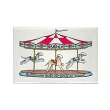 Bedlington Carousel Rectangle Magnet