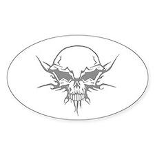 Skull Tattoo 6 Oval Decal