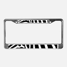 Helaine's Zebra Pattern License Plate Frame