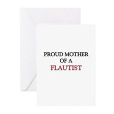 Proud Mother Of A FLAUTIST Greeting Cards (Pk of 1