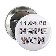 "Hope Won 2.25"" Button"