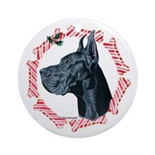 Great Dane Christmas Ornament (Round)