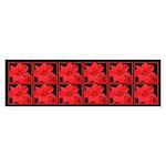 Poinsettia Bumper Sticker (10 pk)