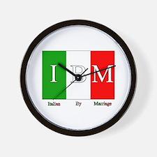 Italian By Marriage Wall Clock