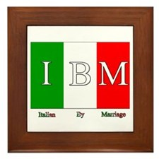 Italian By Marriage Framed Tile