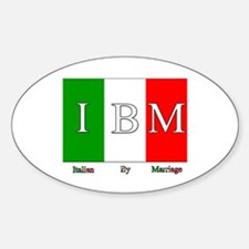 Italian By Marriage Oval Decal