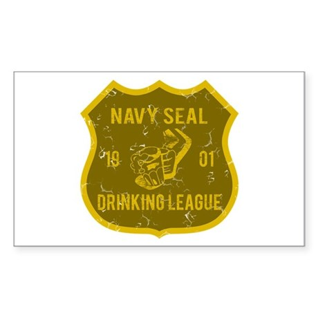 Navy Seal Drinking League Rectangle Sticker