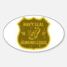 Navy Seal Drinking League Oval Decal