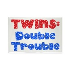 Twins Rectangle Magnet