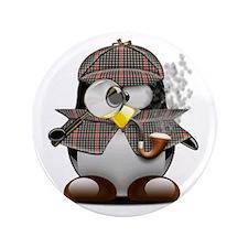 "Shelock Penguin 3.5"" Button"