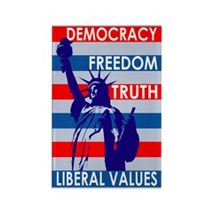 Liberal Statue of Liberty Rectangle Magnet
