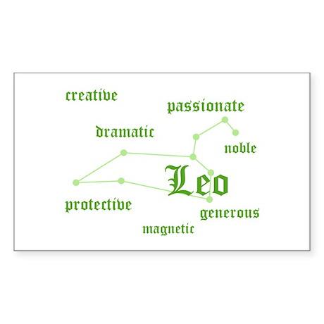 Leo Rectangle Sticker