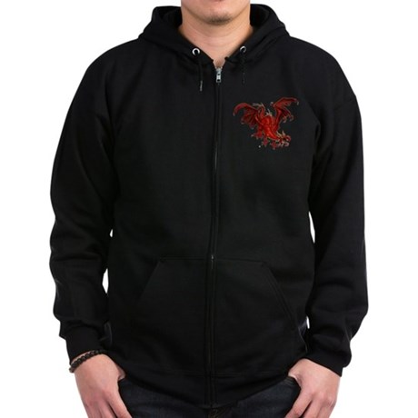 Red Dragon Zip Hoodie (dark)