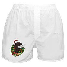 Chocolate Labrador Santa Boxer Shorts