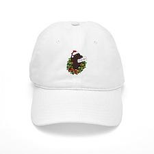Chocolate Labrador Santa Baseball Cap