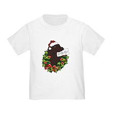 Chocolate Labrador Santa T