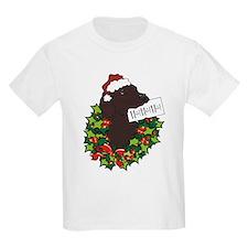 Chocolate Labrador Santa T-Shirt