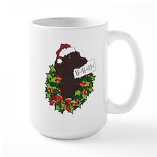Chocolate Labrador Santa Mug