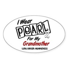 I Wear Pearl For My Grandmother 8 Oval Decal
