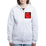 Poinsettia Women's Zip Hoodie