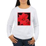 Poinsettia Women's Long Sleeve T-Shirt