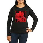 Poinsettia Women's Long Sleeve Dark T-Shirt