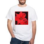 Poinsettia White T-Shirt
