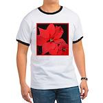 Poinsettia Ringer T
