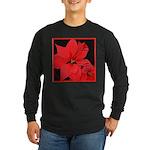 Poinsettia Long Sleeve Dark T-Shirt