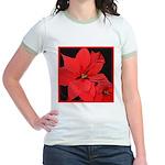 Poinsettia Jr. Ringer T-Shirt