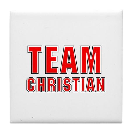 Team Christian Tile Coaster