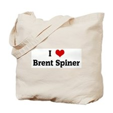 I Love Brent Spiner Tote Bag