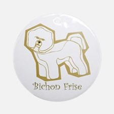 Bichon Frise Gold Keepsake (Round)